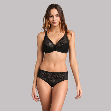 Slip midi in pizzo nero Ideal Posture, , PLAYTEX