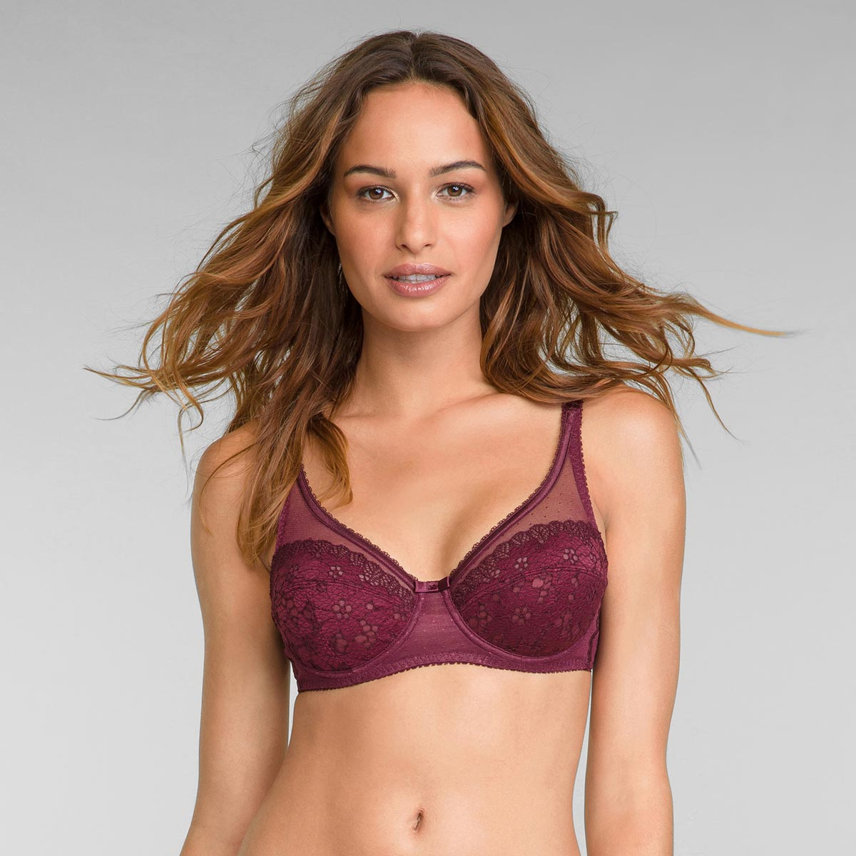 Reggiseno con ferretto bordò scuro Criss Cross Femminile, , PLAYTEX