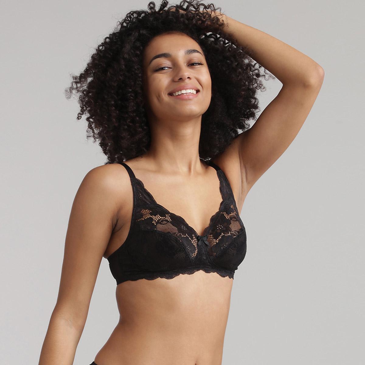 Reggiseno modellante senza ferretto nero Essential Elegance, , PLAYTEX