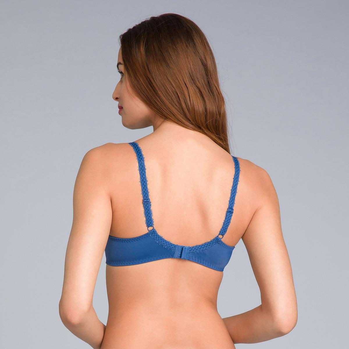 Reggiseno modellante in pizzo blu navy stampato - Flowery Lace Micro - PLAYTEX