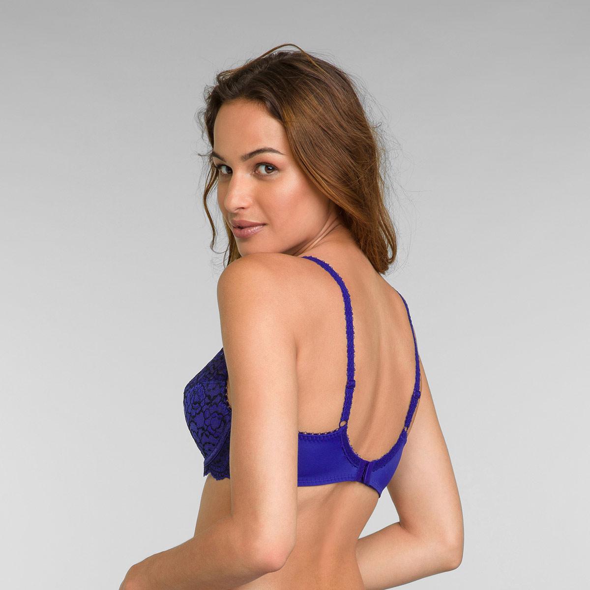 Reggiseno modellante con ferretto blu intenso Flowery Lace, , PLAYTEX