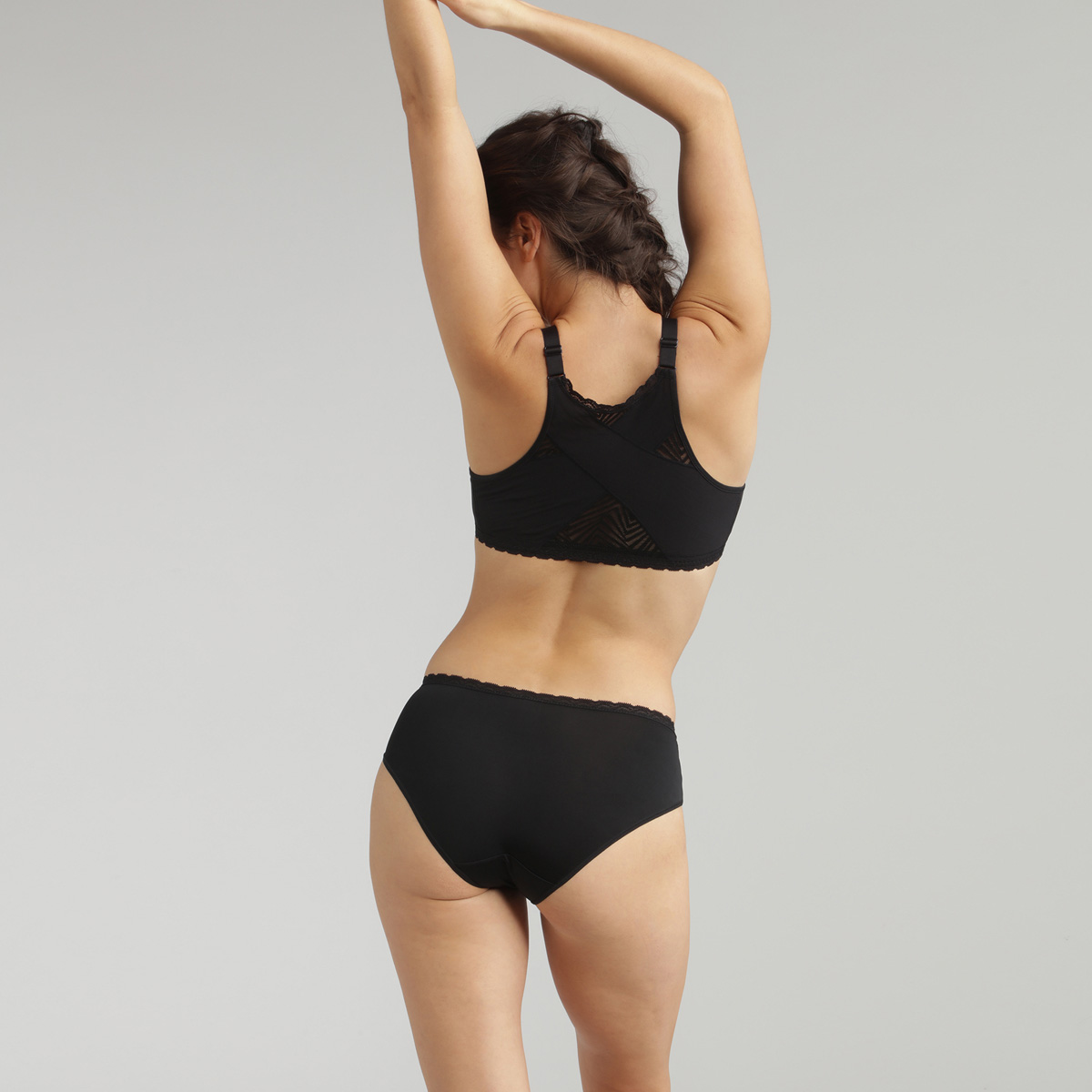 Slip midi in pizzo nero Ideal Posture, , PLAYTEX