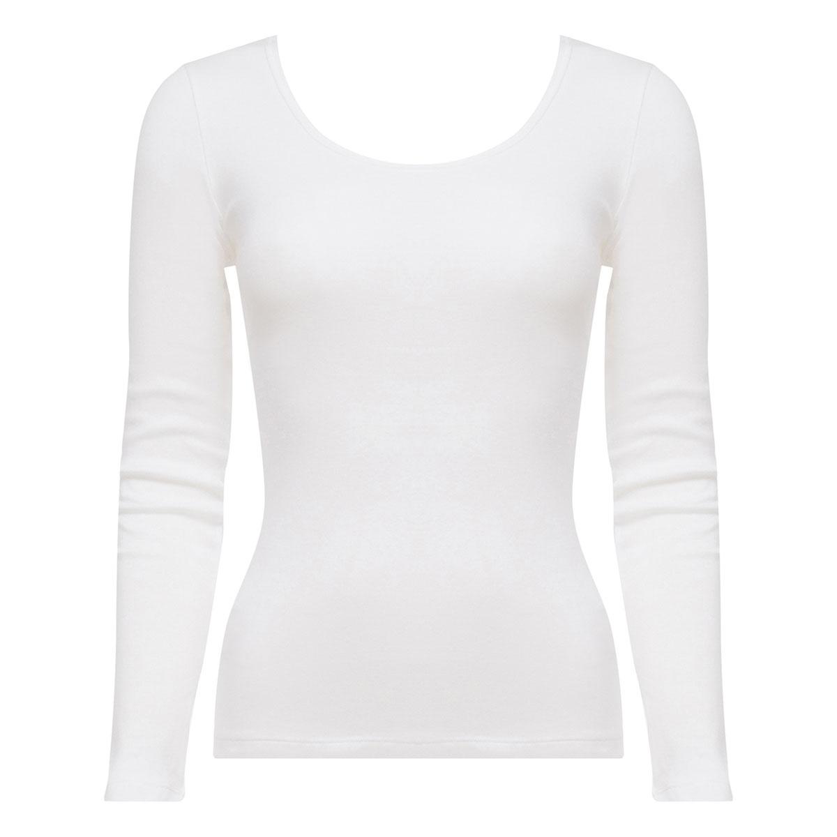 Top manches longues blanc - Cotton Liberty-PLAYTEX
