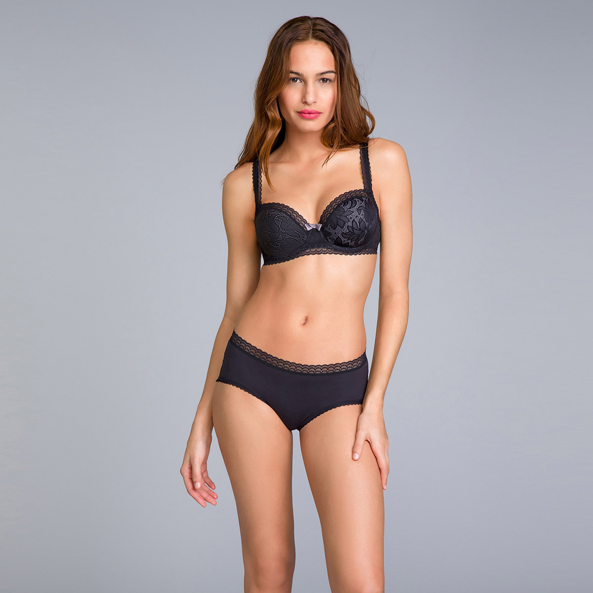 Slip Midi coprente nero - Invisible Elegance, , PLAYTEX