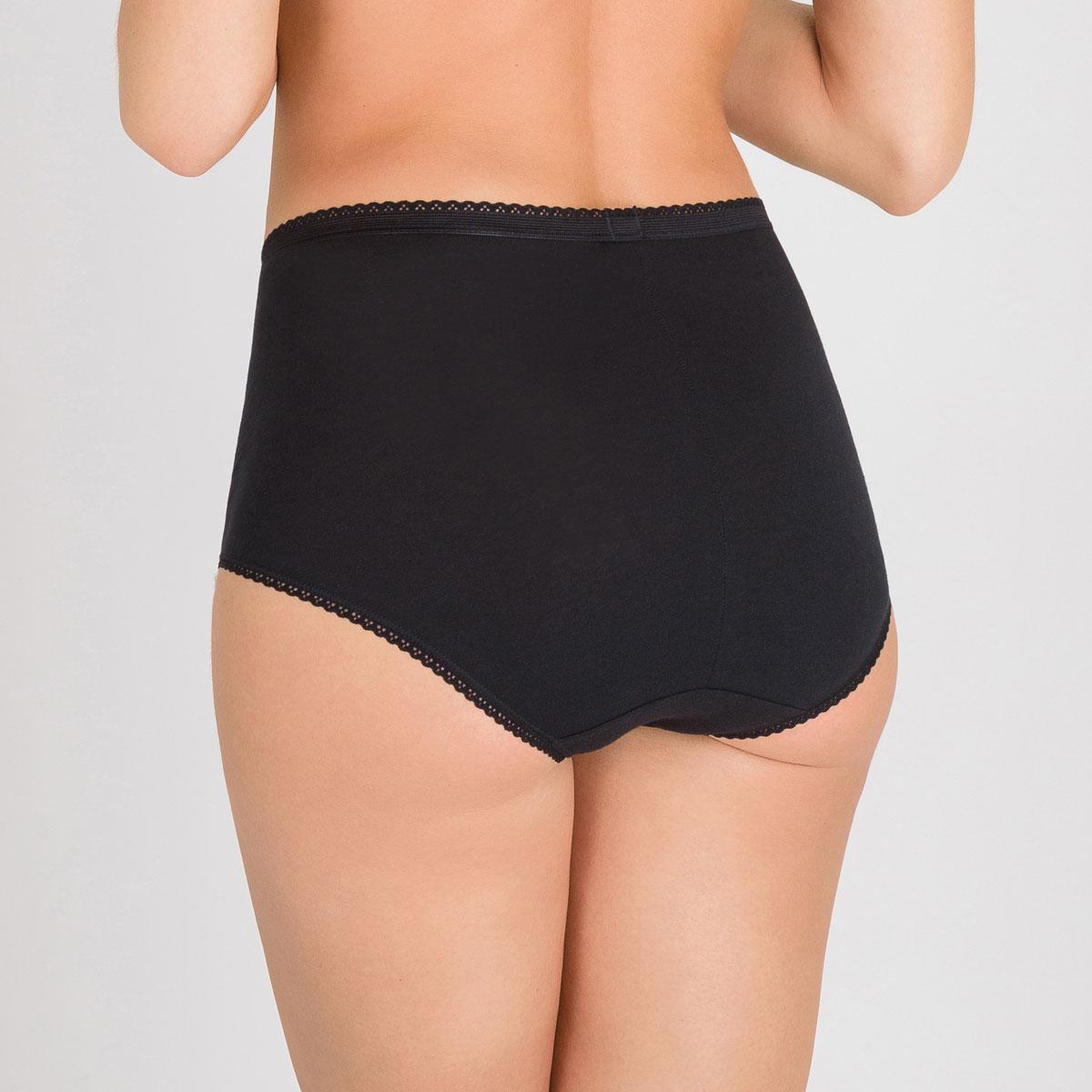 2 Culottes Maxi noires - Coton & Dentelle-PLAYTEX