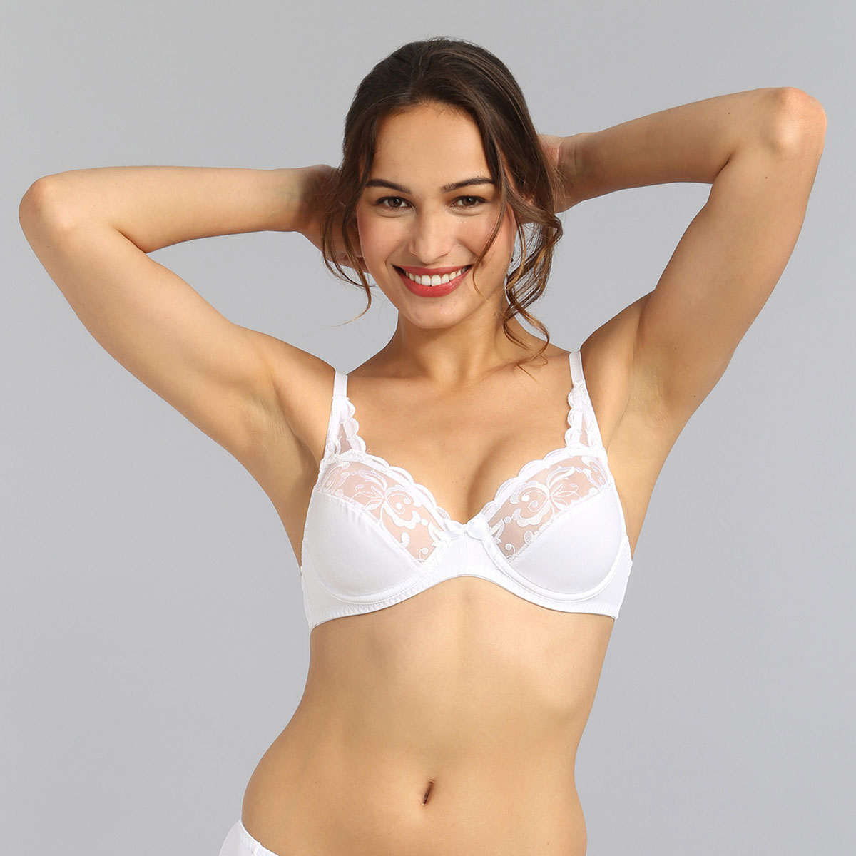 Reggiseno con ferretto bianco Essential Elegance Embroidery, , PLAYTEX