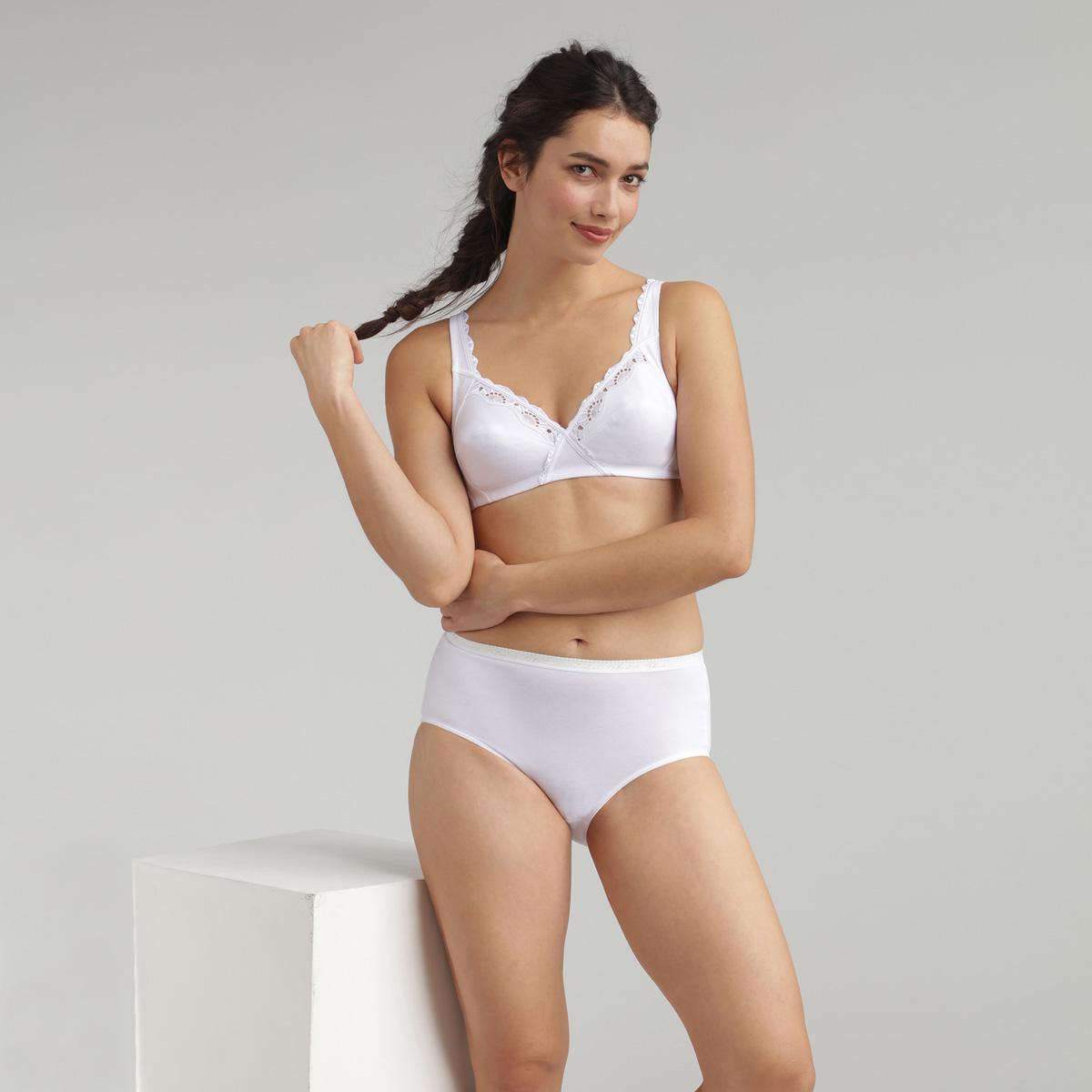 Reggiseno senza ferretto bianco Cotton Support, , PLAYTEX