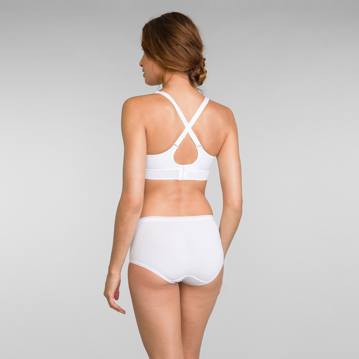 Reggiseno senza ferretto bianco Feel Good Support Cotone, , PLAYTEX