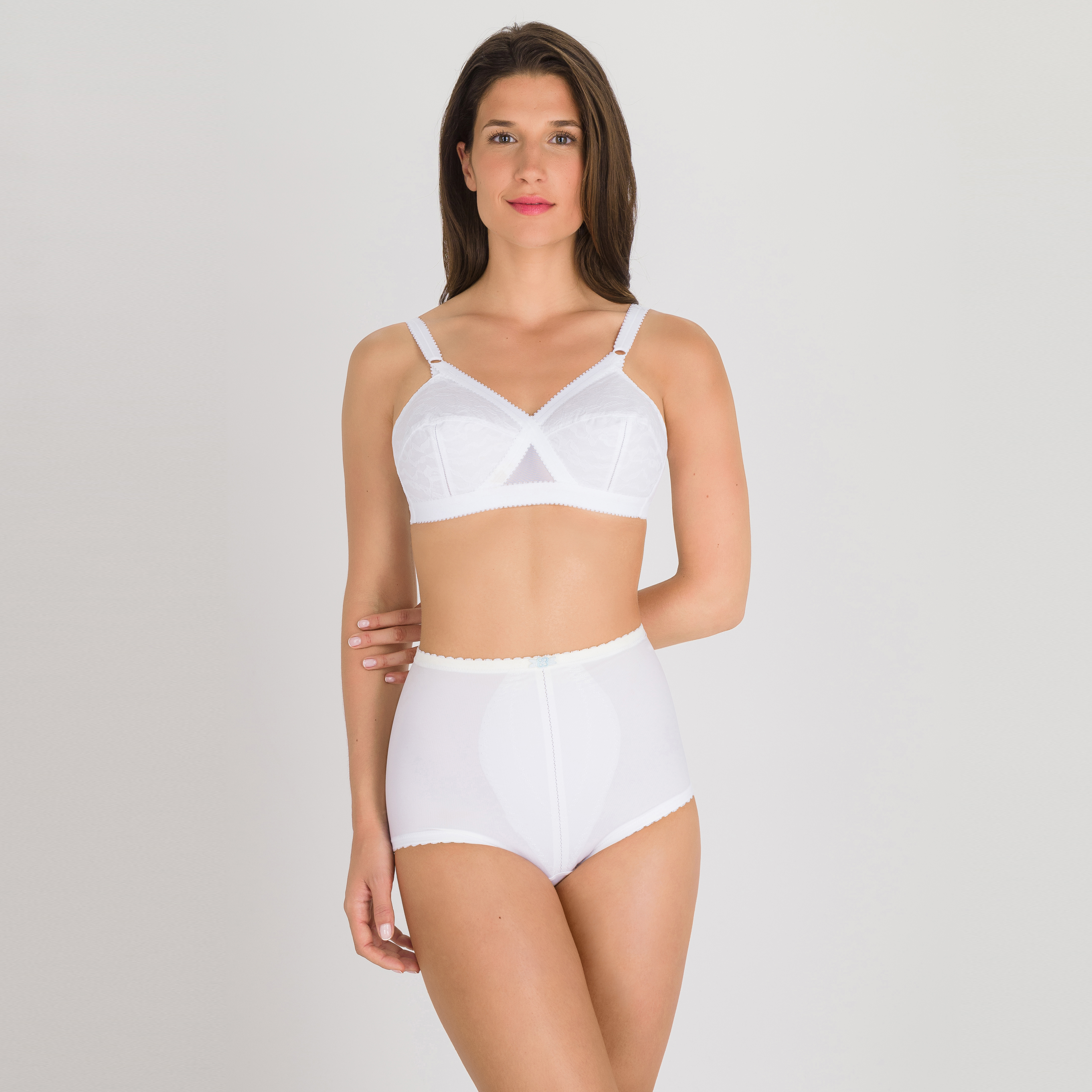 Culotte gainante serre-taille blanche  – ICUG-PLAYTEX