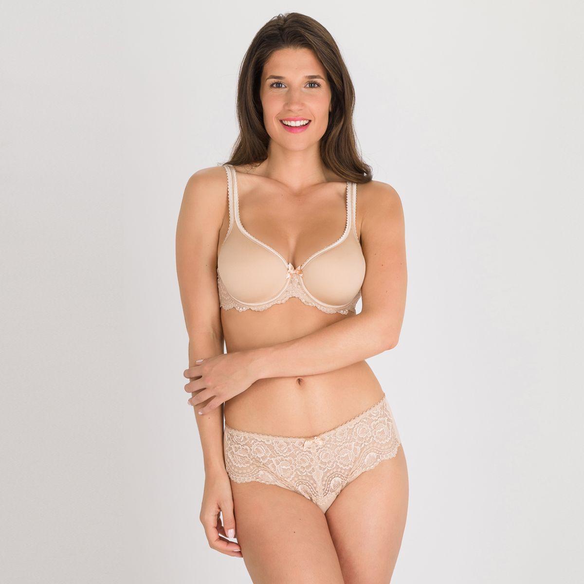 Reggiseno coppa spacer beige - Flowery Lace, , PLAYTEX