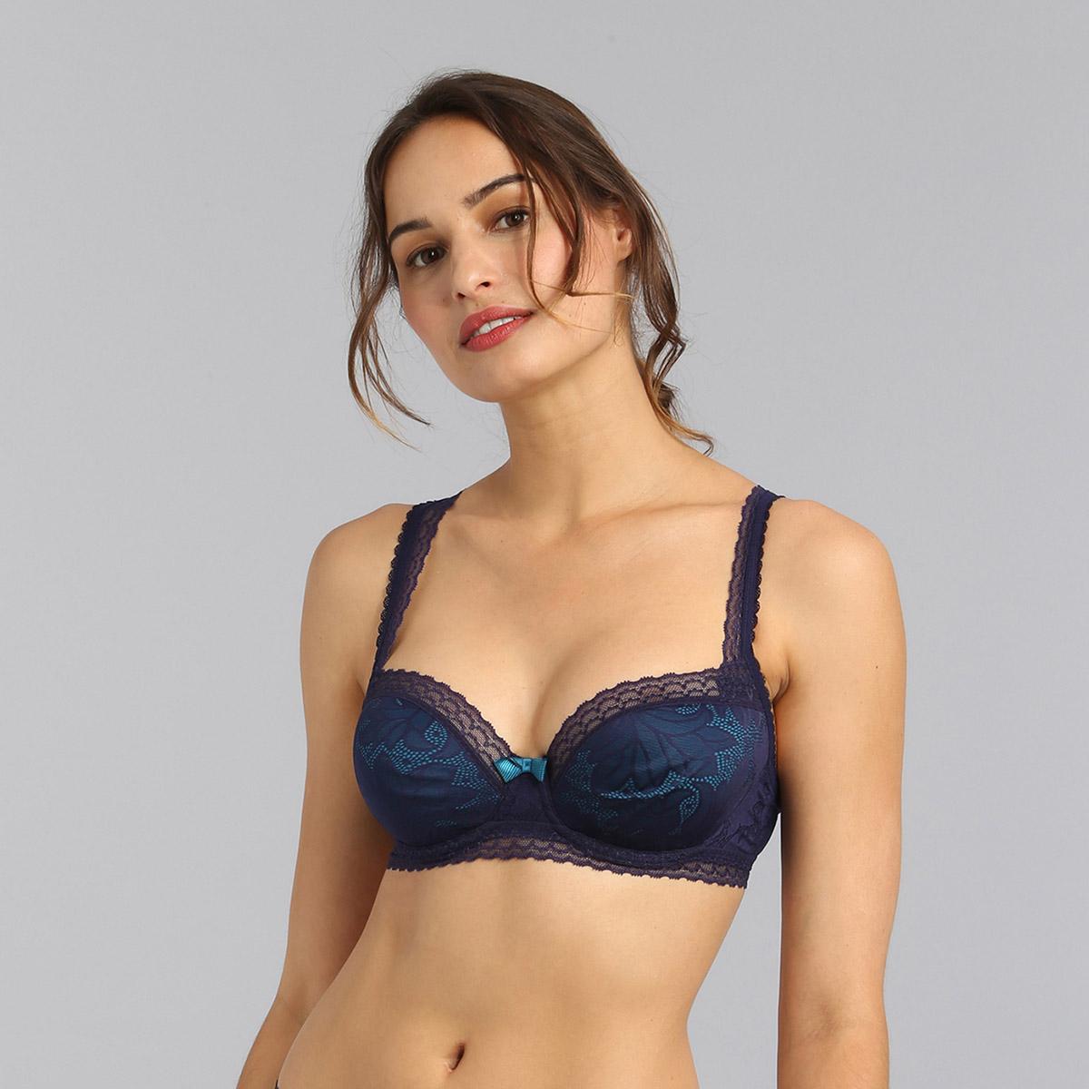 Reggiseno balconcino blu marino Invisible Elegance, , PLAYTEX
