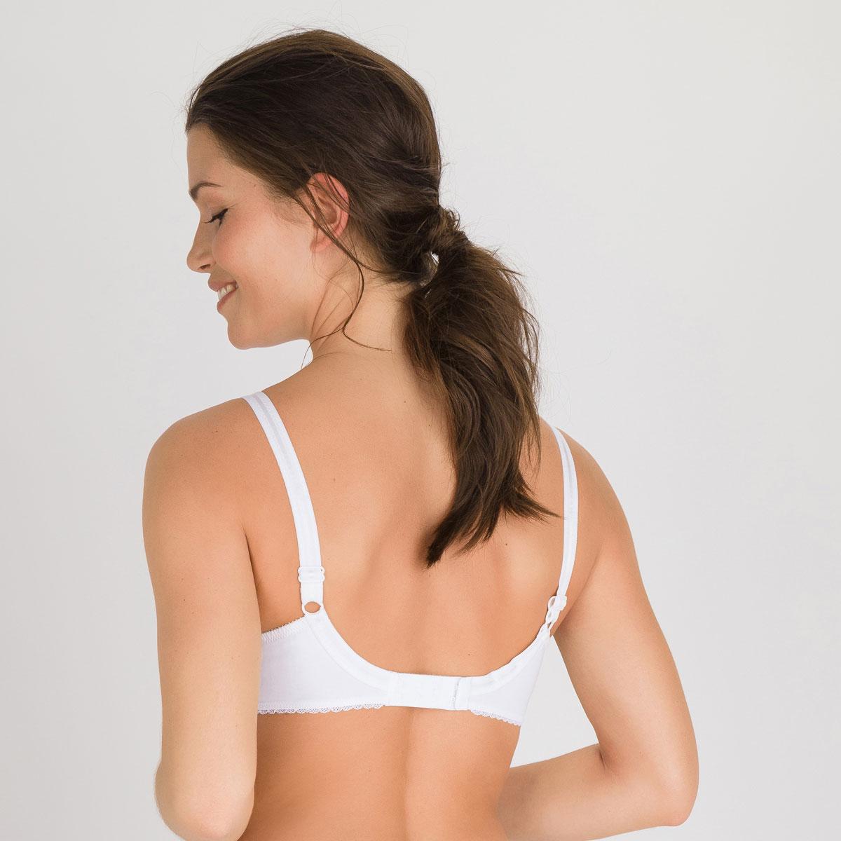 Soutien-gorge emboîtant blanc  – Cœur Croisé Coton-PLAYTEX