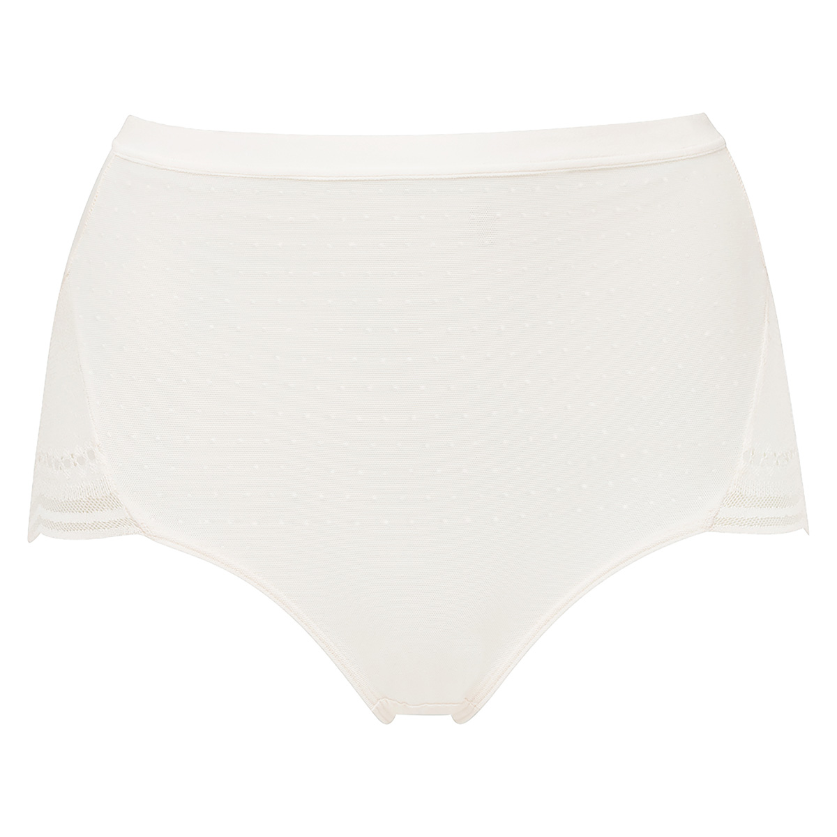 Slip in pizzo avorio a vita alta Secret Comfort, , PLAYTEX