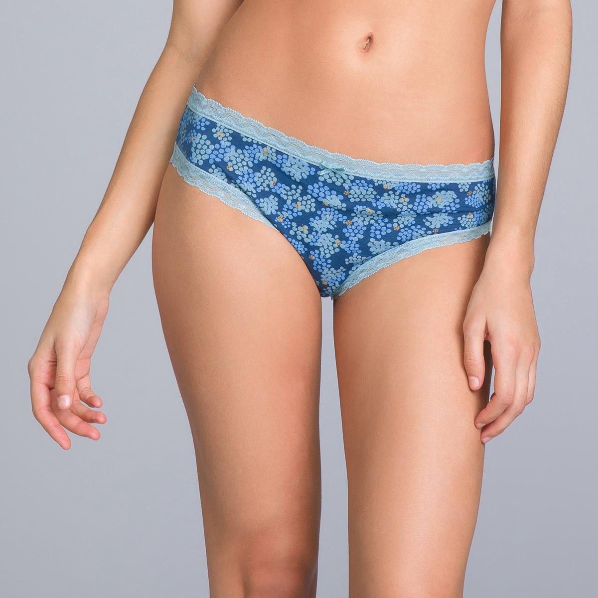 Pacco da 2 mutande in cotone blu uniforme e stampato - Cotton Fancy, , PLAYTEX
