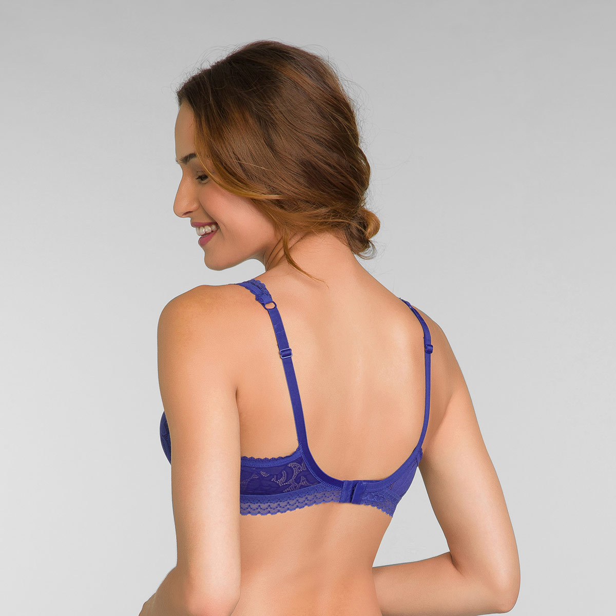 Reggiseno modellante con ferretto blu intenso Invisible Elegance, , PLAYTEX
