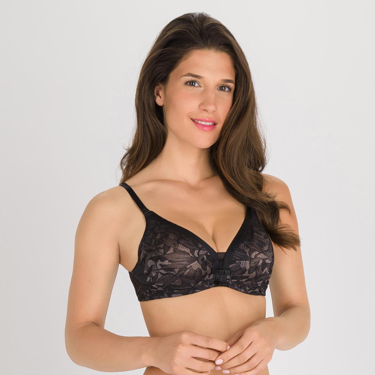 Reggiseno con ferretto nero e grigio - Ideal Beauty Lace, , PLAYTEX