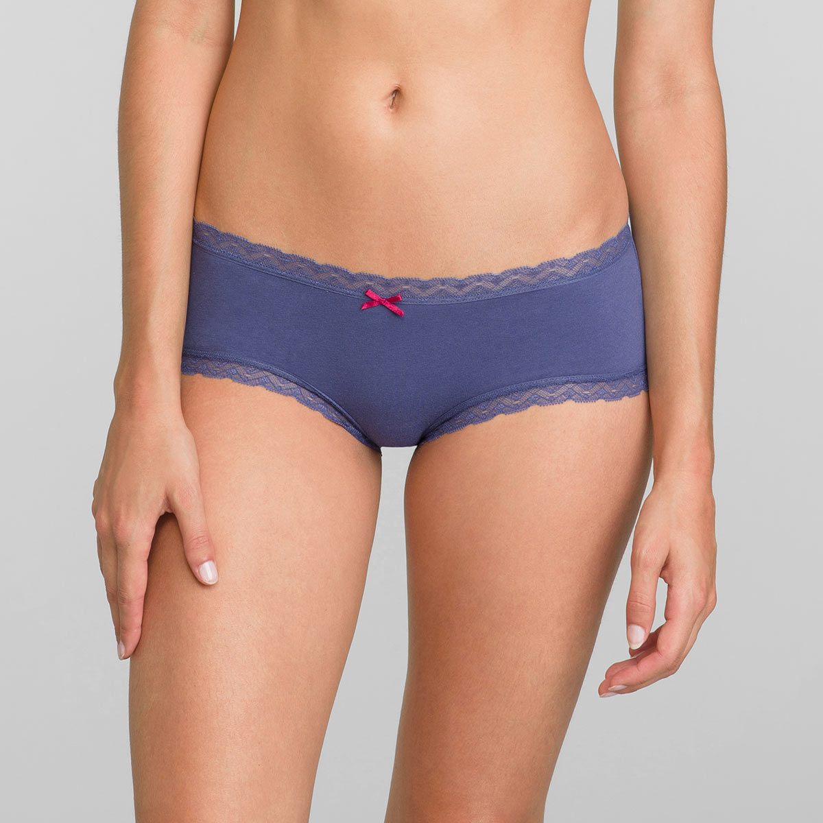 Pacco da 2 Panty blu e stampa foglie Cotton Fancy, , PLAYTEX