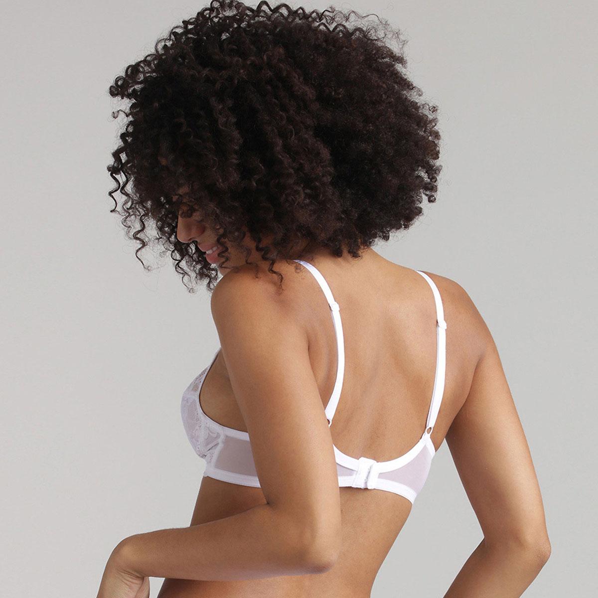 Reggiseno balconcino senza ferretto bianco Essential Elegance, , PLAYTEX