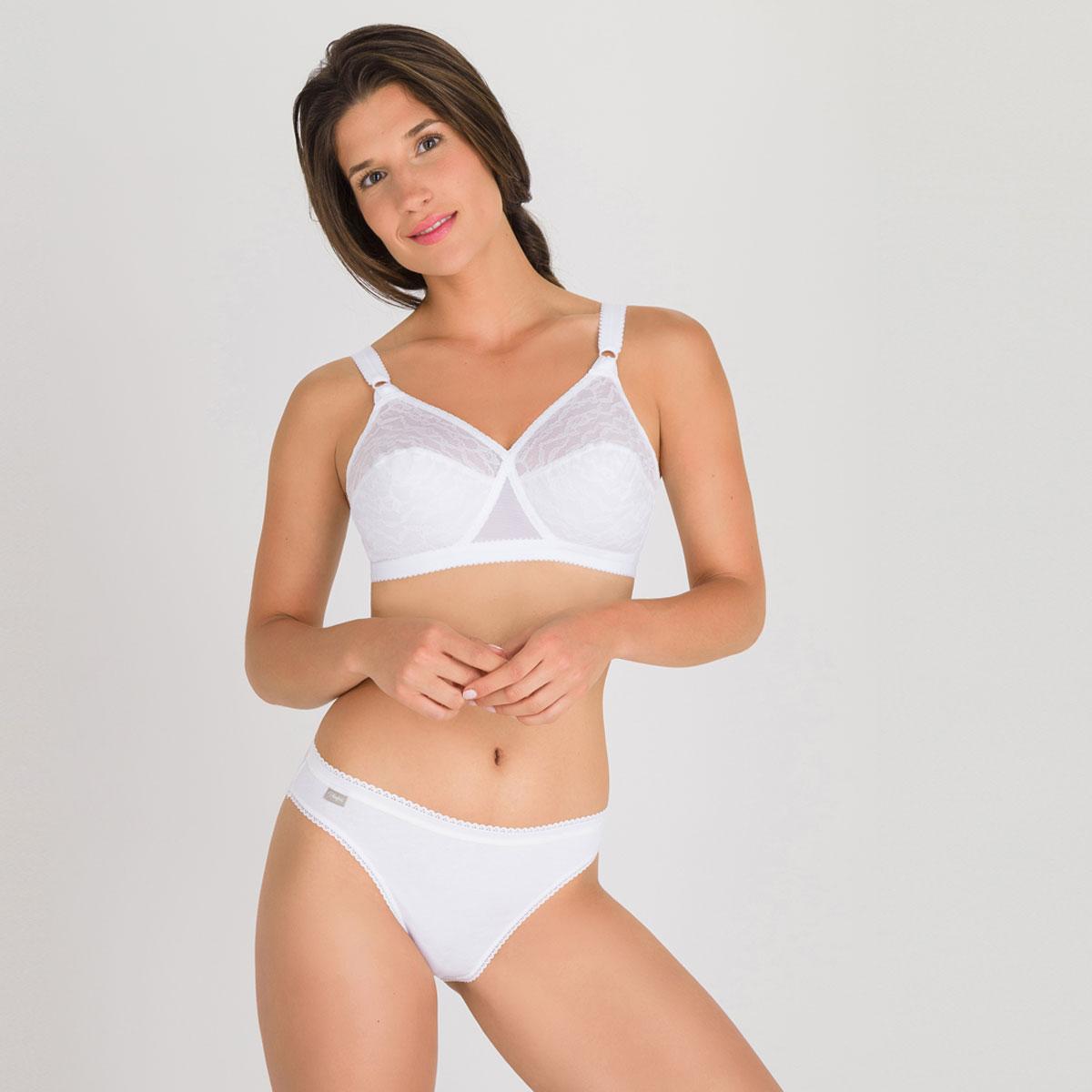 Pacco da 3 Slip Sgambati bianco - Cotone - PLAYTEX