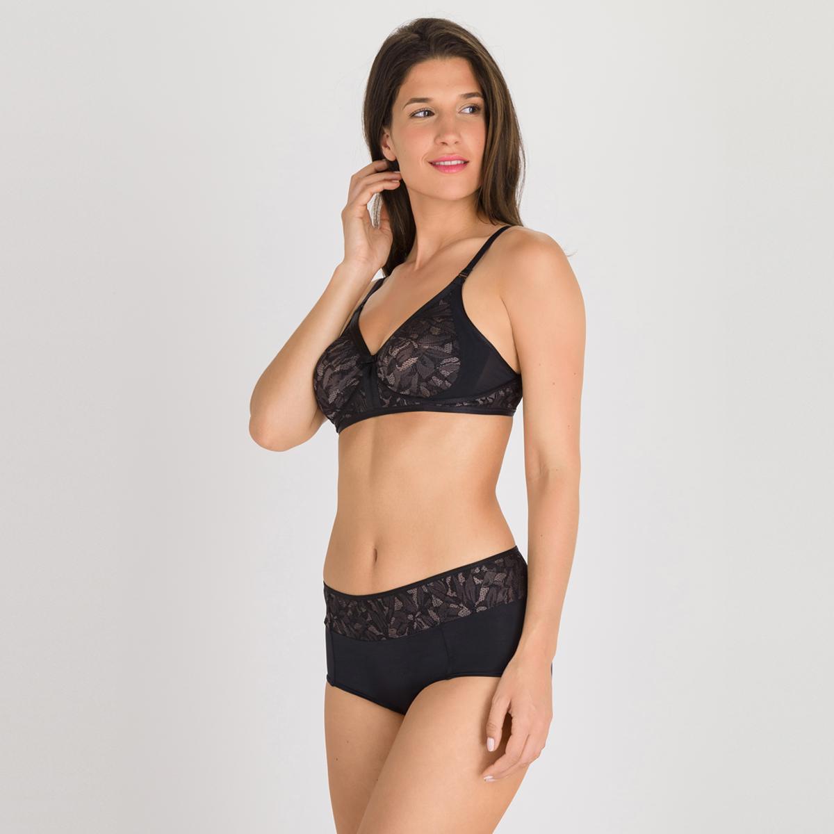 Reggiseno senza ferretto nero e grigio - Ideal Beauty Lace, , PLAYTEX