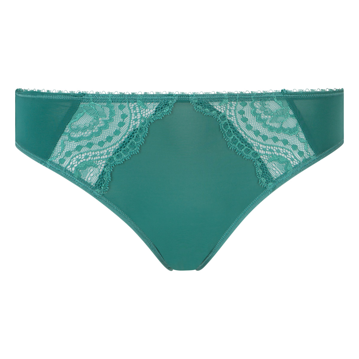 Slip mini verde scuro Flowery Lace, , PLAYTEX
