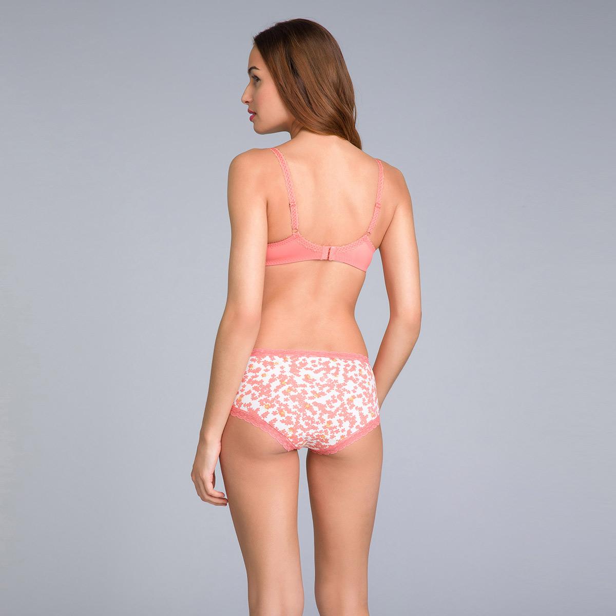 Pacco da 2 shorty donna in cotone arancione uniforme e stampato - Cotton Fancy, , PLAYTEX