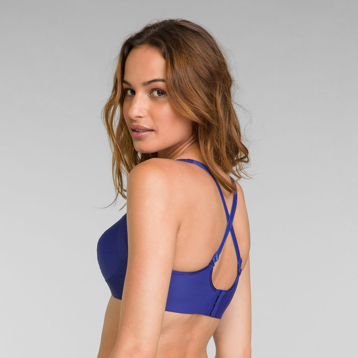 Reggiseno senza ferretto blu intenso Feel Good Support , , PLAYTEX