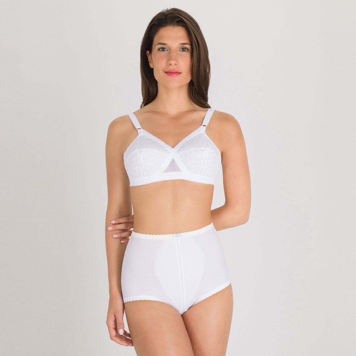 Soutien-gorge sans armatures blanc  – Cœur Croisé 556-PLAYTEX