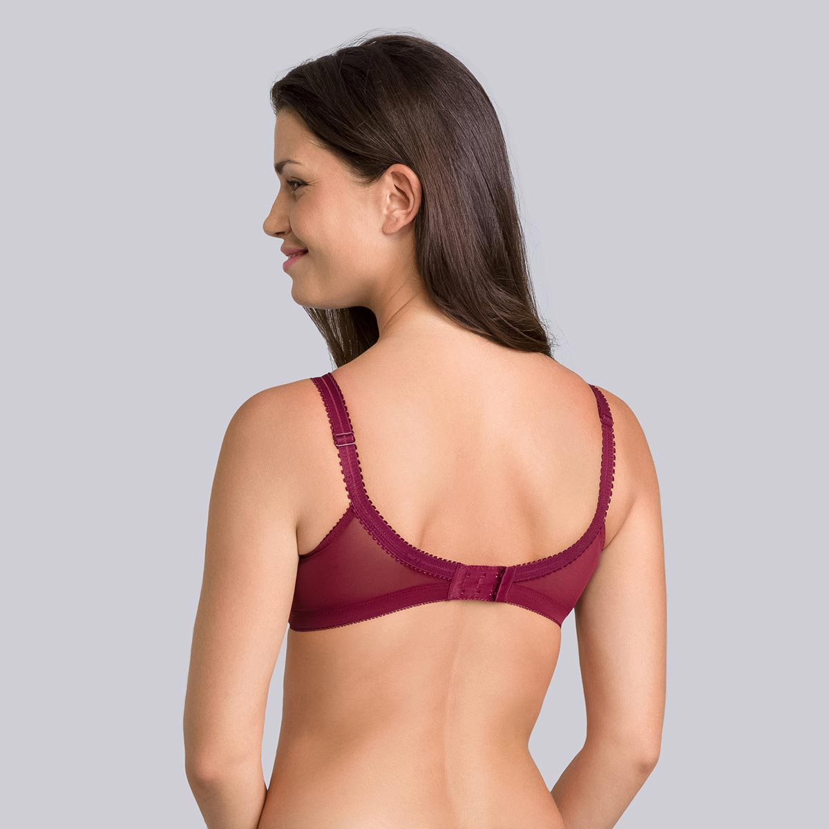 Reggiseno senza ferretto viola bordò - Criss Cross -PLAYTEX
