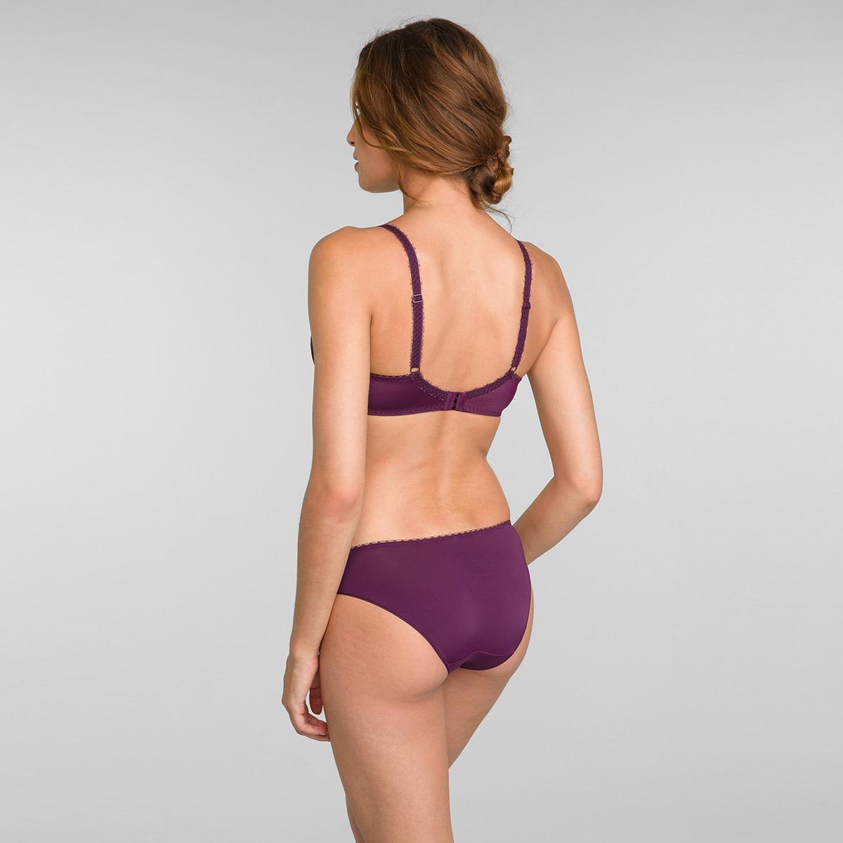 Reggiseno balconcino con ferretto viola e oro Flowery Lace, , PLAYTEX
