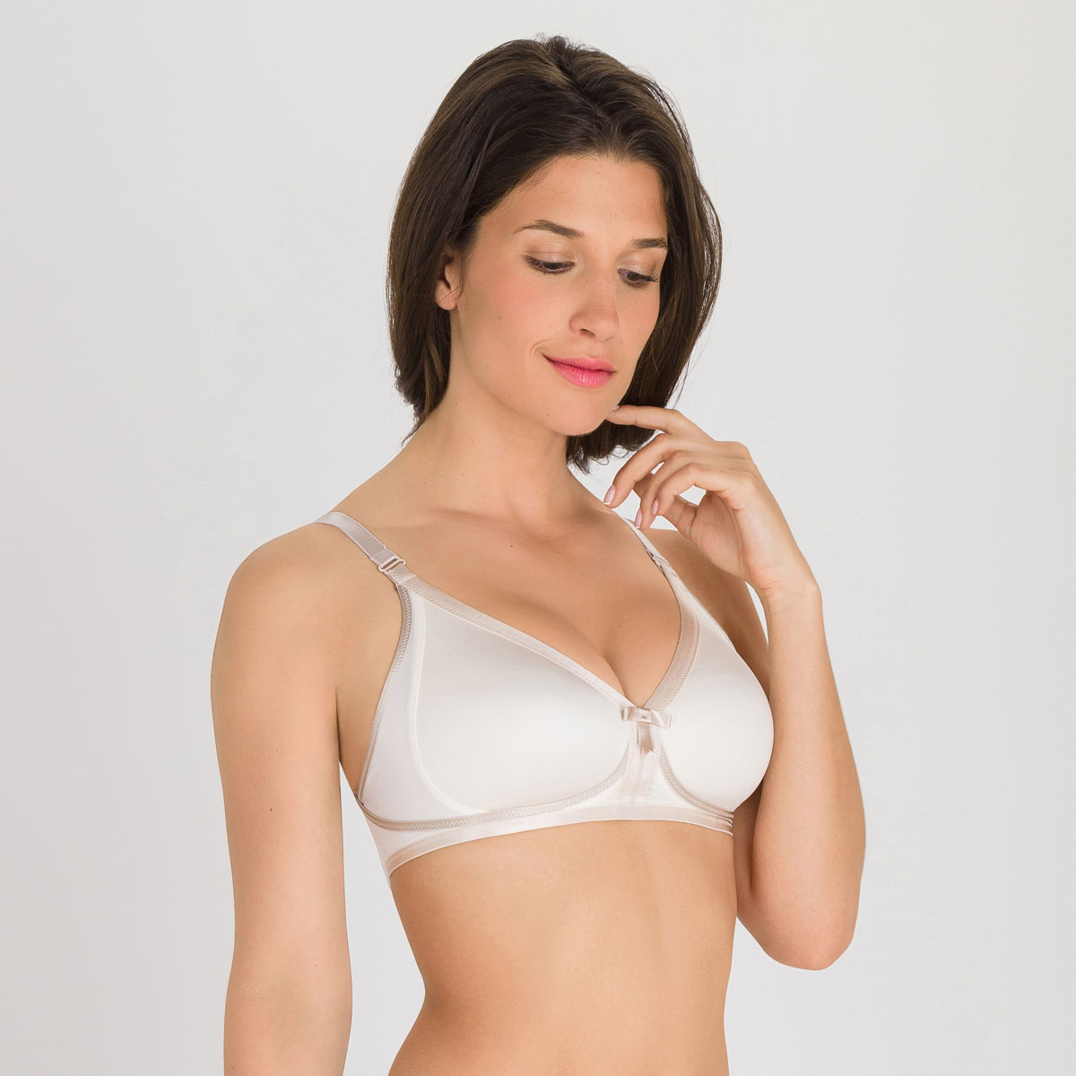 Reggiseno senza ferretto avorio - Ideal Beauty, , PLAYTEX