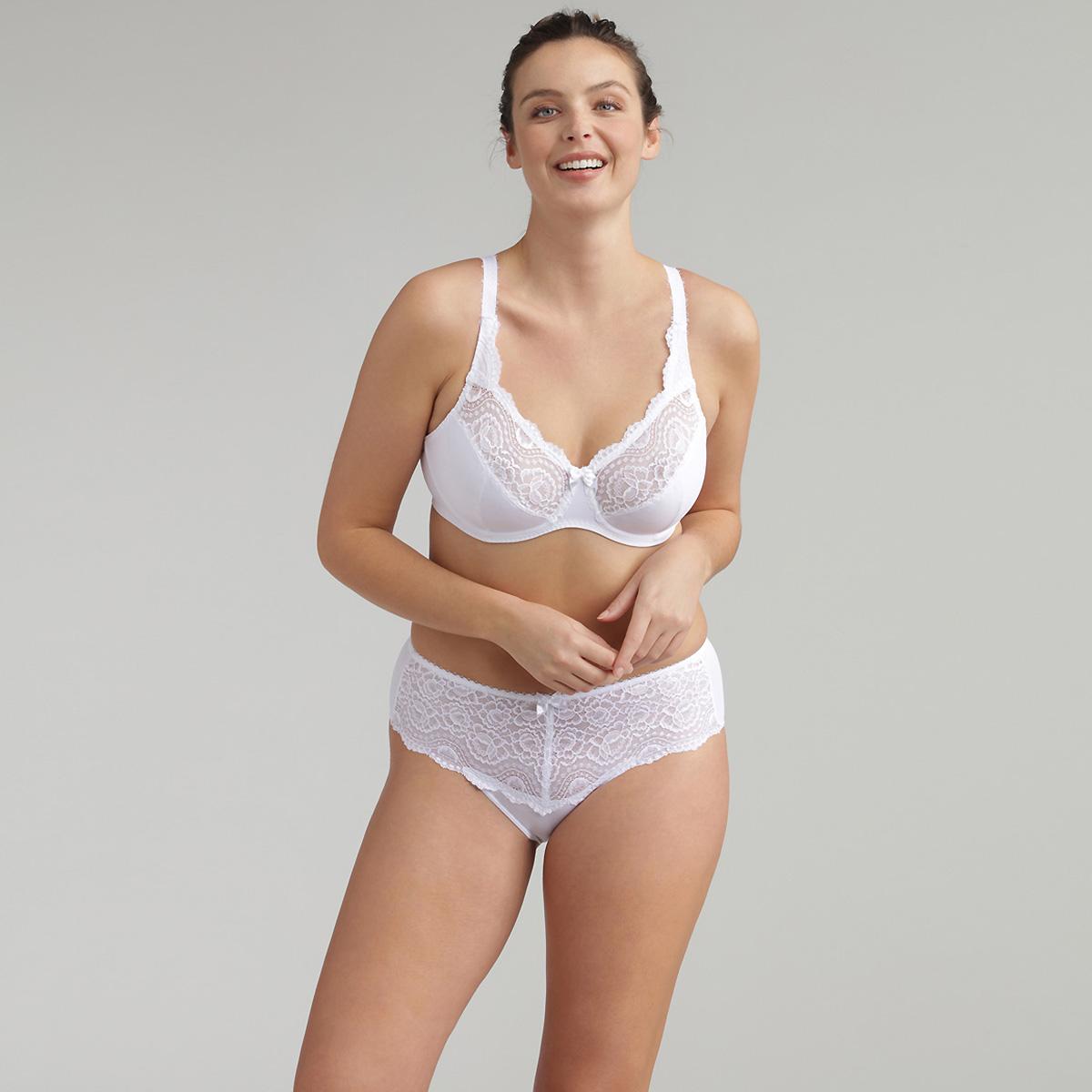 Reggiseno modellante con ferretto bianco Flowery Lace Micro, , PLAYTEX