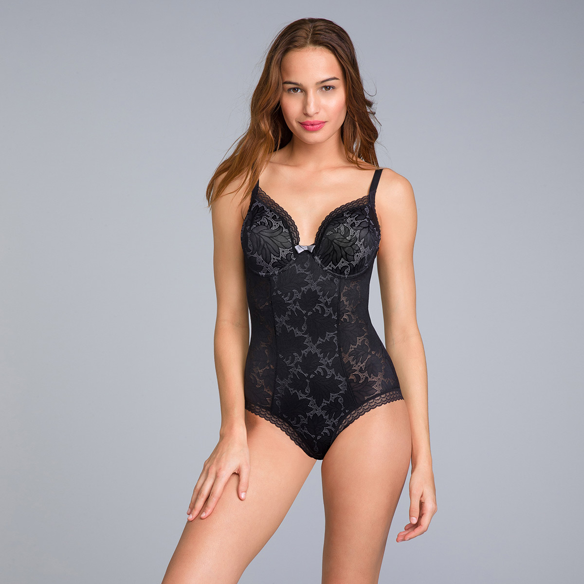 Body con ferretto in pizzo nero Invisible Elegance, , PLAYTEX