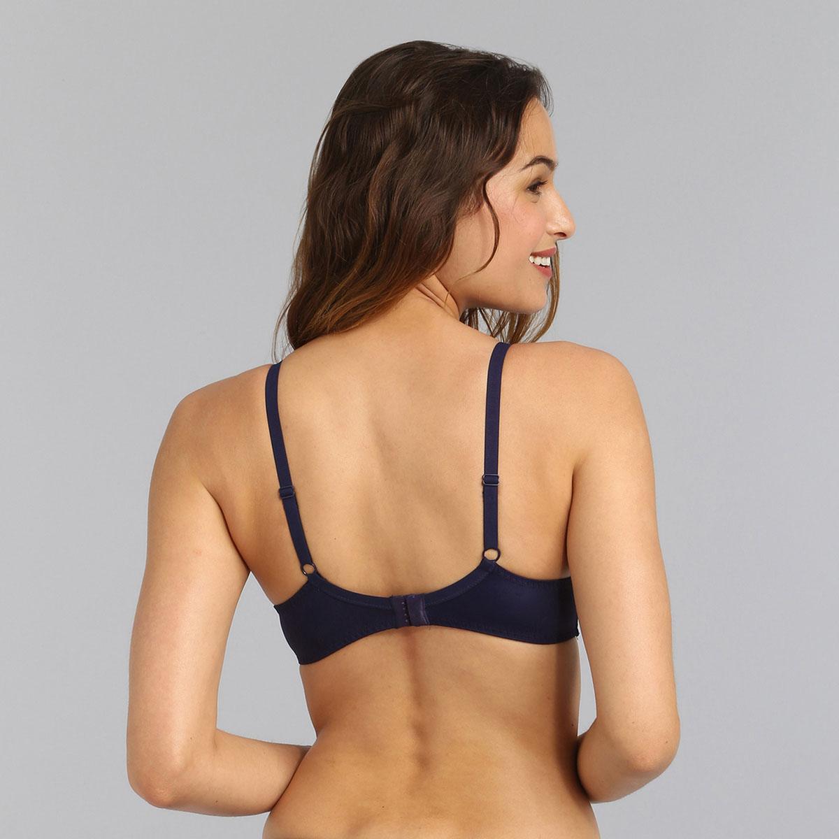 Reggiseno con ferretto blu marino Essential Elegance Ricamo, , PLAYTEX