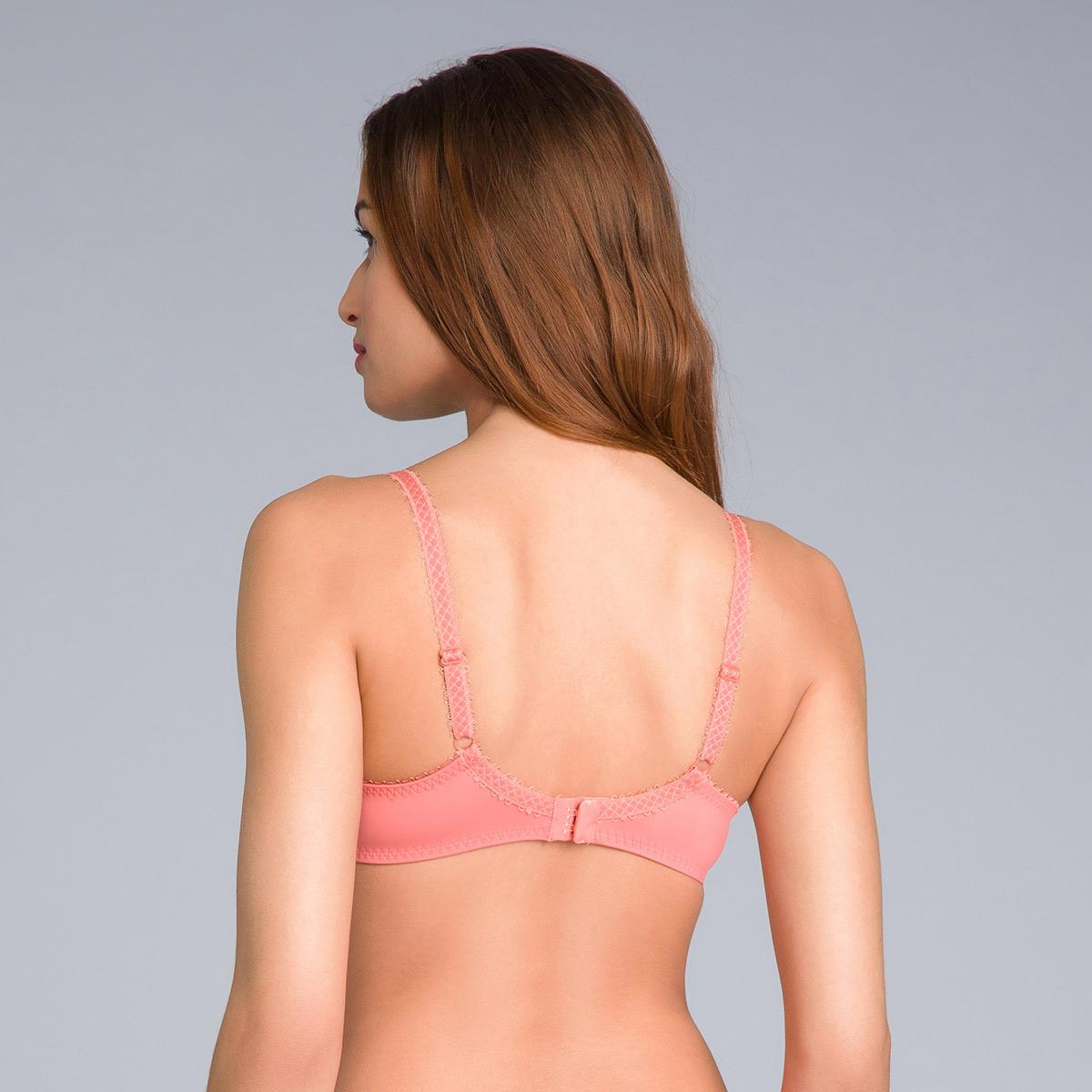 Reggiseno modellante in pizzo arancione cannella - Flowery Lace, , PLAYTEX