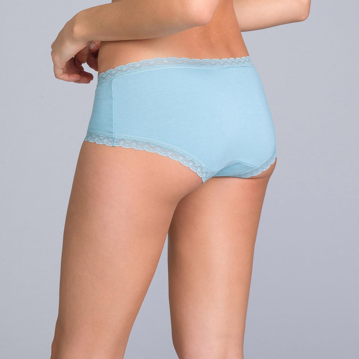 Pacco da 2 shorty donna in cotone blu uniforme e stampato - Cotton Fancy - PLAYTEX