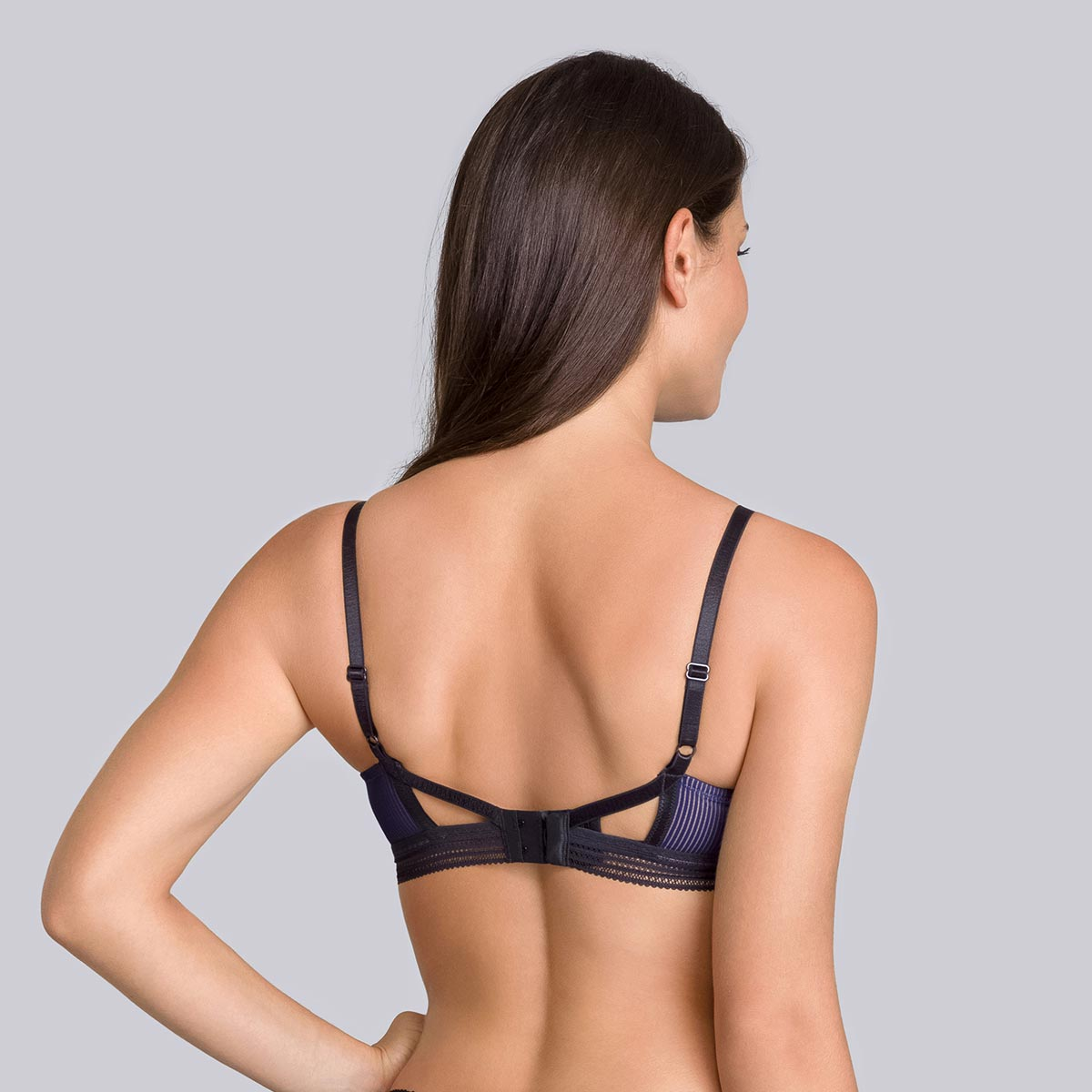 Reggiseno senza ferretto blu navy e nero - Smocking Chic - PLAYTEX