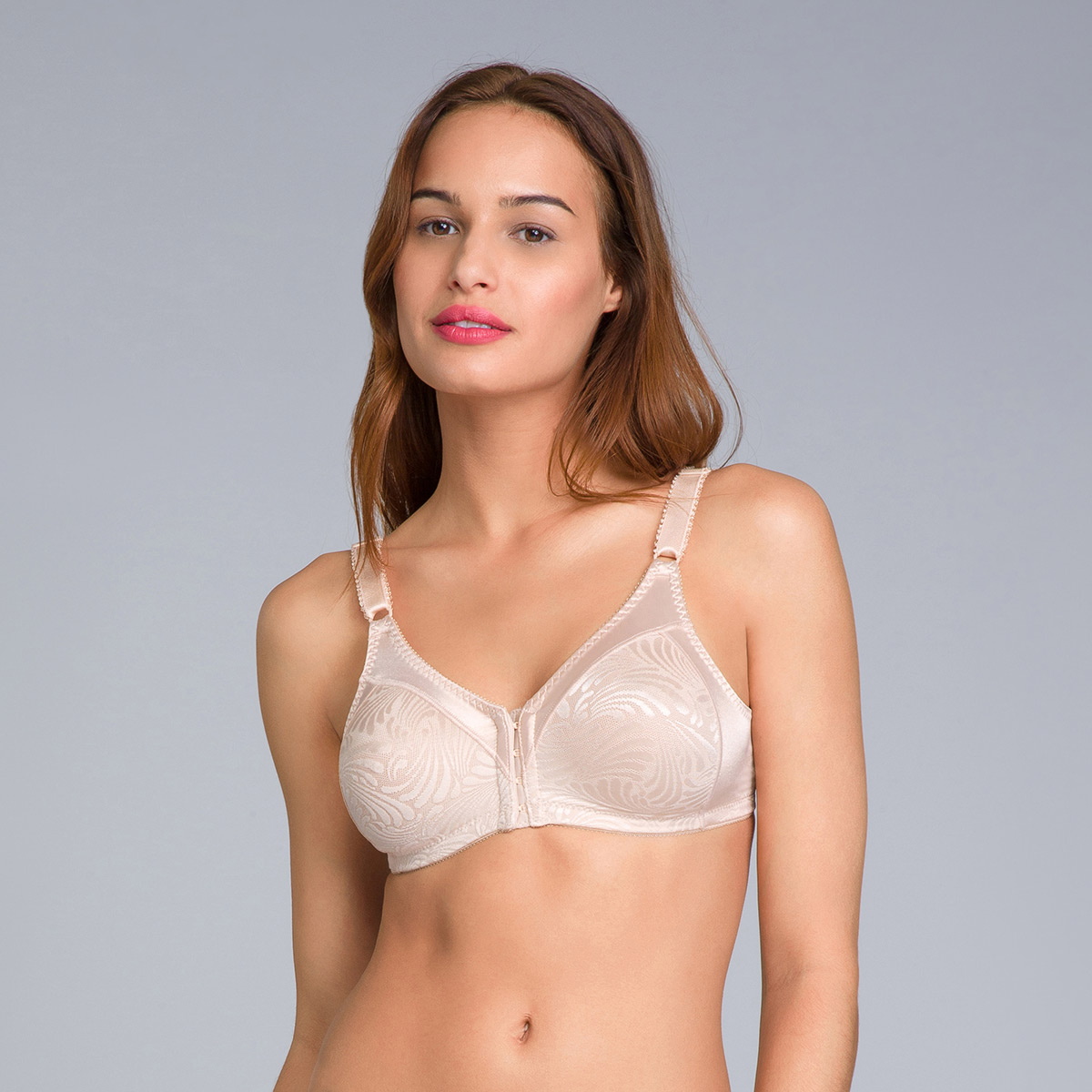 Reggiseno senza ferretto aperto davanti beige - Double Support, , PLAYTEX