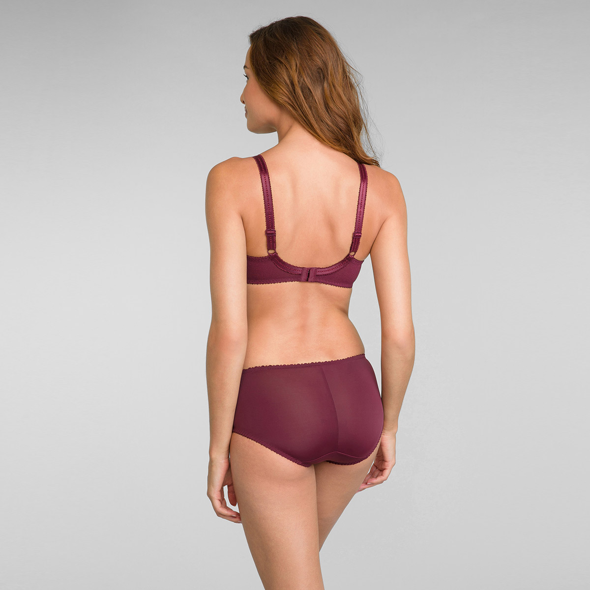 Slip midi bordò scuro Criss Cross Femminile, , PLAYTEX