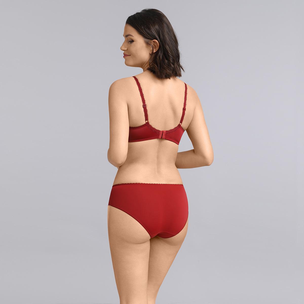 Reggiseno con ferretto rosso carminio Flowery Lace, , PLAYTEX
