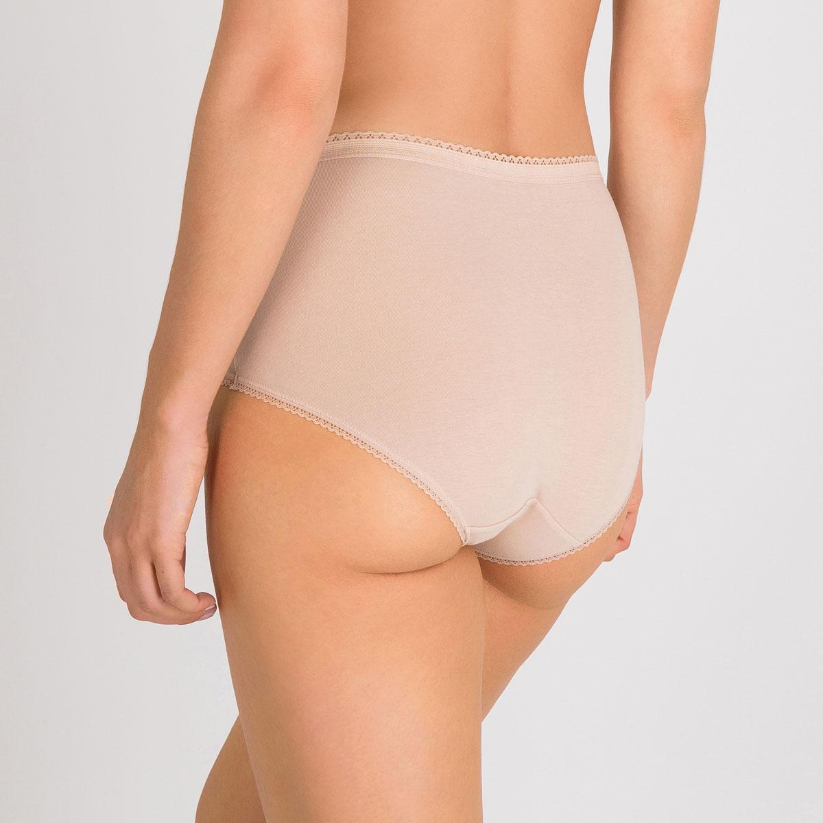3 culottes Midi noire, blanche et beige - Coton Stretch-PLAYTEX