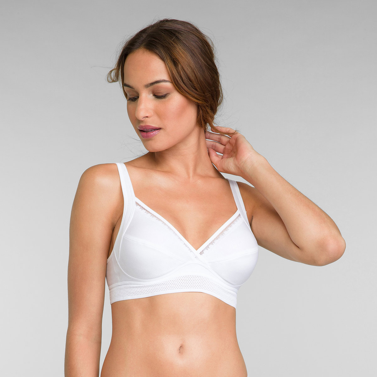 Reggiseno senza ferretto bianco Feel Good Support, , PLAYTEX