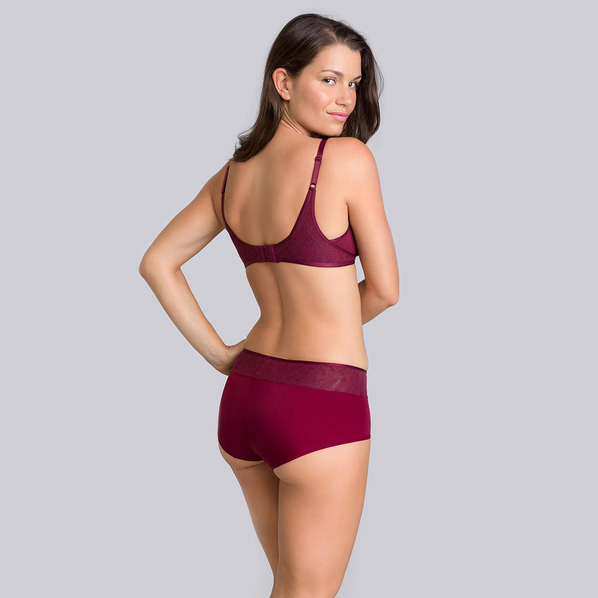 Shorty bordeaux gris - Ideal Beauty Lace-PLAYTEX