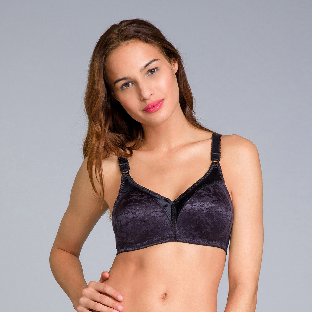 Reggiseno senza ferretto nero - Double Support - PLAYTEX