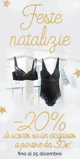 Feste Natalizie : -20% di sconto su un acquisto a partire da 50€*